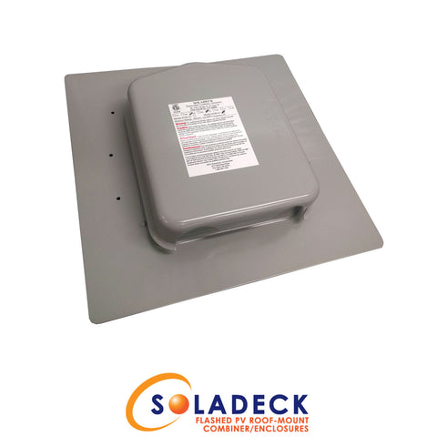SolaDeck Flashed Roof Pass Through DC Combiner Box 0786-41
