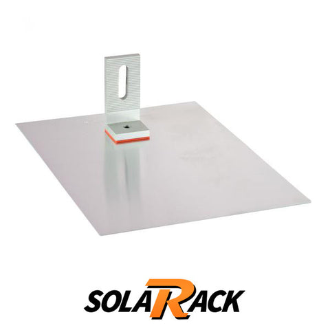 SolaRack Comp L-Foot Kit Silver With Rail Attachment (Box of 16)