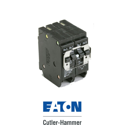Eaton Cutler Hammer 2-Pole 15/15 Quad Breaker Type BR and BQC