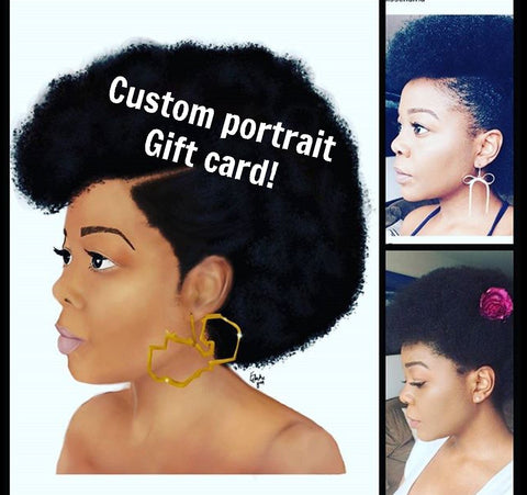 CUSTOM PORTRAIT GIFT CARD - commissioned artwork drawn from photos.
