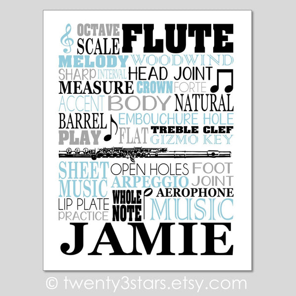 Music and Music Typography Art