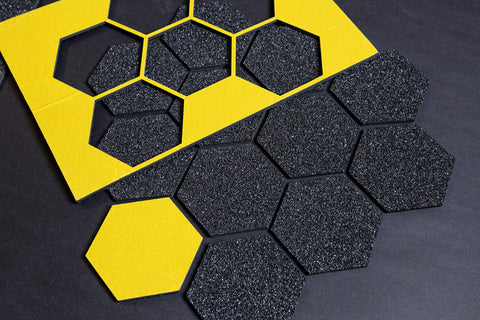 Dope Grip™ Pro Grip Tape – Universal Hexagon - for all boards