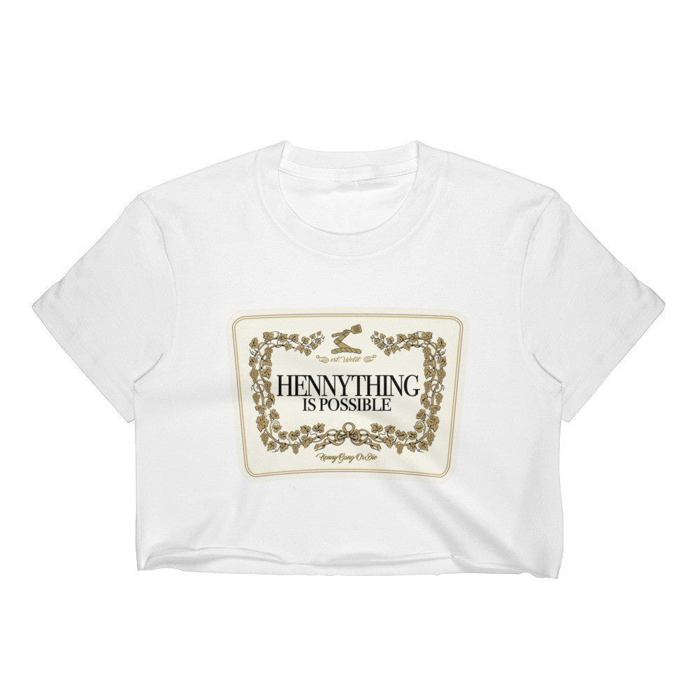 Hennything is Possible Label Crop Top
