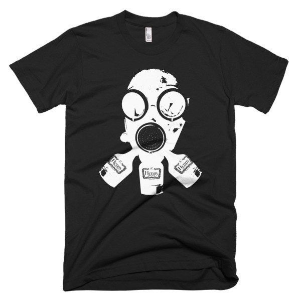Henny Gas Mask Tee in Black