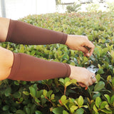 Brown Skin Tone Forearm Protectors for Elderly or Thinning Skin