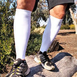 Silver/Grey Calf Leg Sleeves for Skin Protection