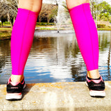 Pink Calf Leg Sleeves for Covering Bruises