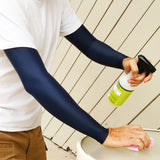 Dark Navy Full Arm Warmer Sleeves - AG Thermal Arm Warmers