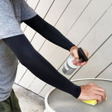 Black Full Arm Medical Protective Arm Sleeves