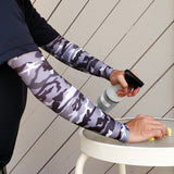 Grey Camo Full Arm Protection Sleeves for Thin Skin