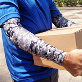 Grey Digital Camo Full Arm Protection for Elderly Skin Sleeves