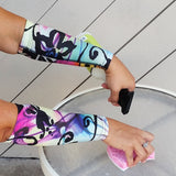 Island Dark Pattern Forearm Protection Thinning Skin Sleeves