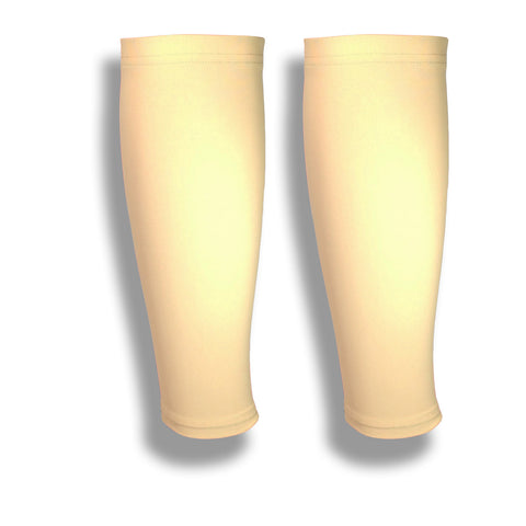 Light Skin Tone Calf Leg Sleeves to Cover Varicose Veins & Bruises