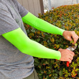 Neon Green Arm Protector Sleeves for Elderly or Thin Skin