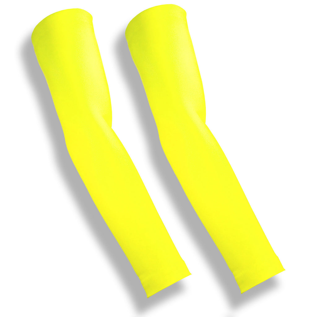 Neon Yellow Full Arm Protection Thin Skin Sleeves