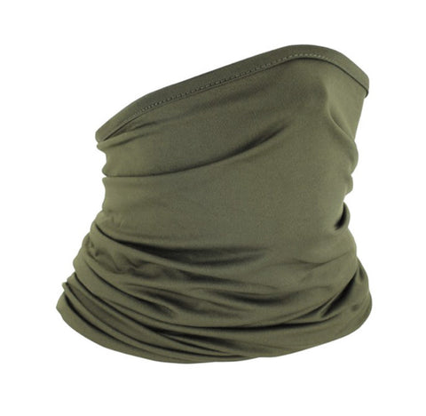 Carol's Olive Green Infinite Face Wrap for Protection