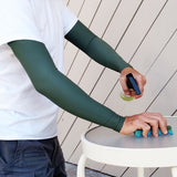 Olive Green Thinning Skin Arm Protection Sleeves