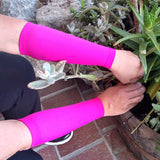 Pink Forearm Skin Protectors for Elderly Skin