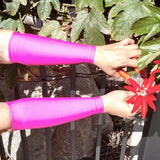 Pink Forearm Thin Skin Protectors for the Elderly