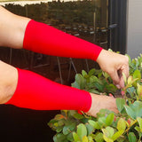 Red Forearm Medical Arm Protectors Thinning Skin