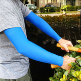 Royal Blue Full Arm Arm Protectors for Elderly or Thin Skin