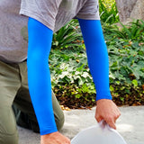 Royal Blue Full Arm Arm Protectors for Elderly or Fragile Skin