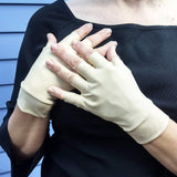 Light Skin Tone Fingerless Gloves for Covering Bruising