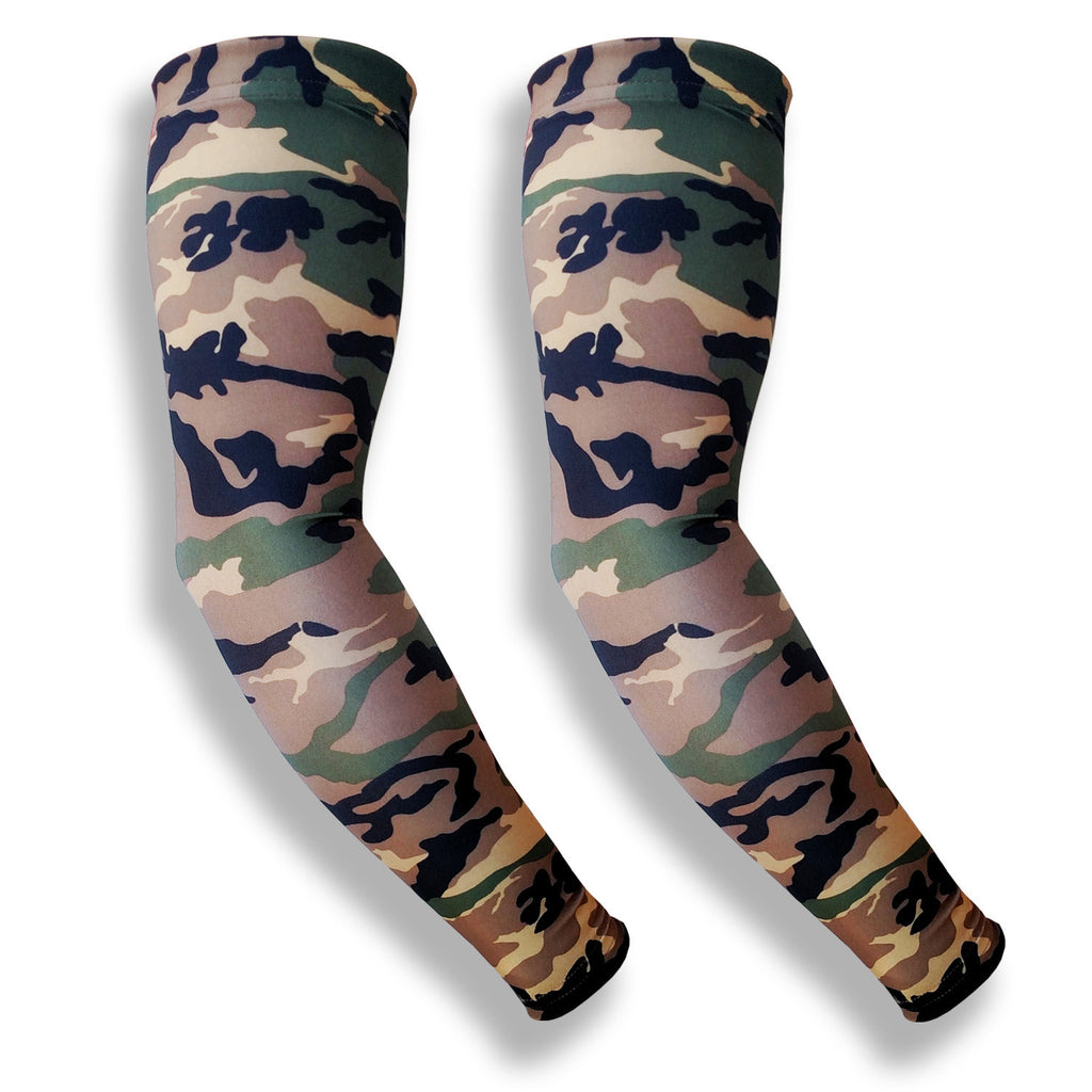 green camo arm sleeves to hide bruising