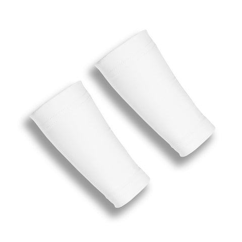 White Six Inch Wrist Band Sleeves
