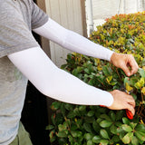 cold weather arm warmers white arm sleeves