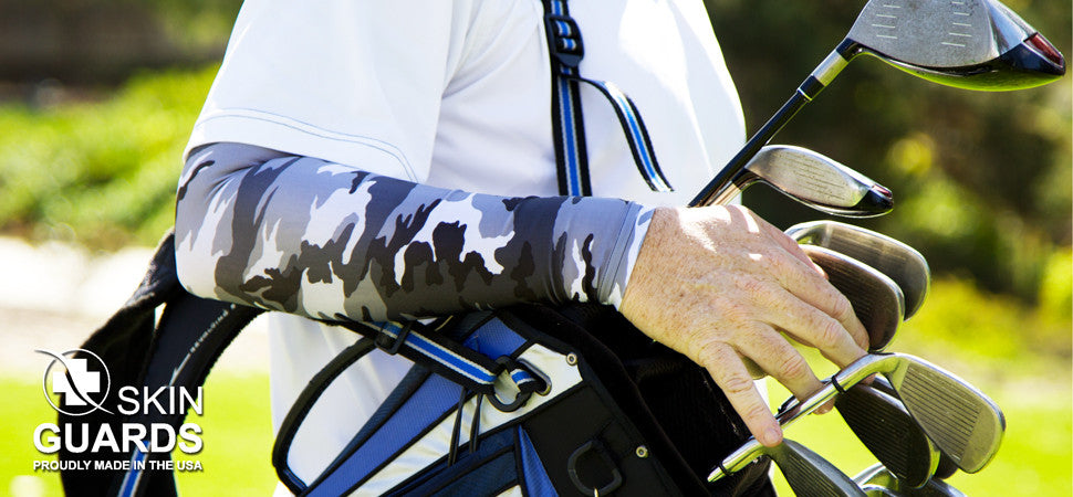 grey camo arm sleeves