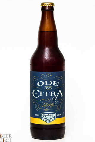 Powell Street Ode to Citra Pale Ale -650ml