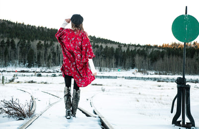 How to Wear Prints in the Winter