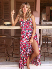 Adinda Wrap Dress in Gili Print