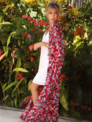 Zane Long Kimono in the Gili Print