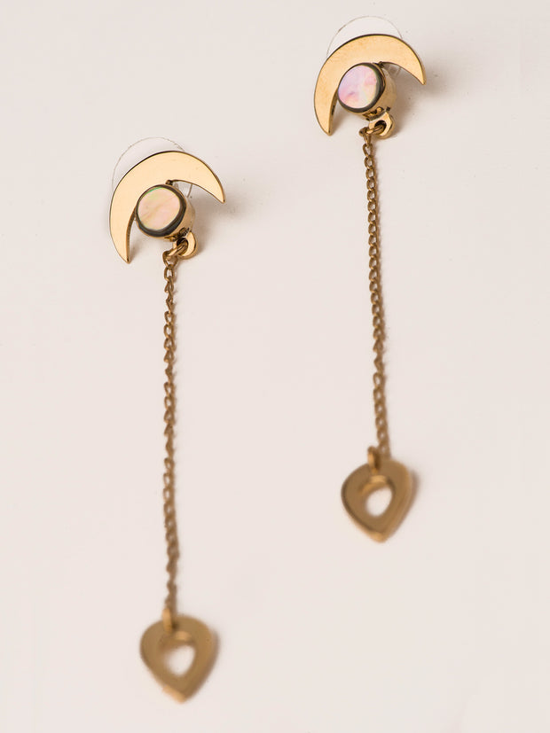 TAMGA Jewelry Drop Earrings Close up