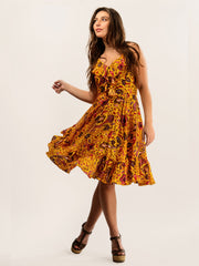 TAMGA Kezia Boho Summer Dress Padang Print