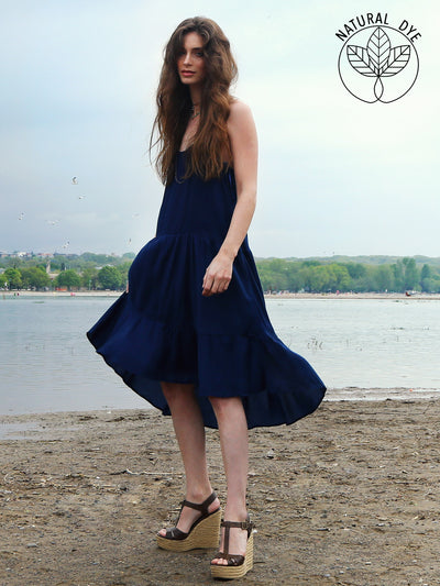 Natural Indigo Dress