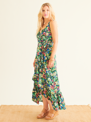 Adinda Wrap Dress in Sumatra Print