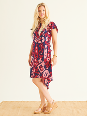 Dalia Shift Dress in Sumba Print