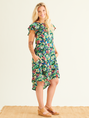 Dalia Shift Dress in Sumatra Print