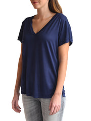 TAMGA V Neck Tee Blue