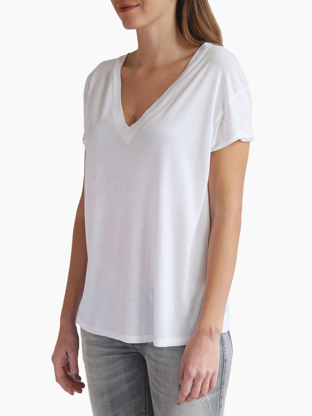 TAMGA V Neck Tee White