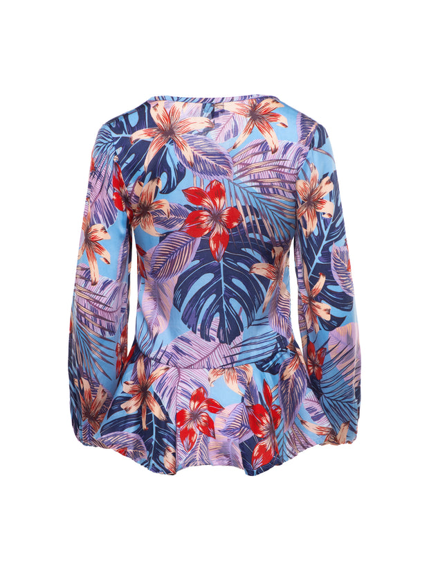 Cleo Blouse in Maluku Print