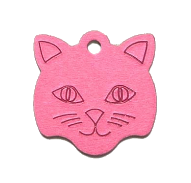 Small Cat Face ID Tag