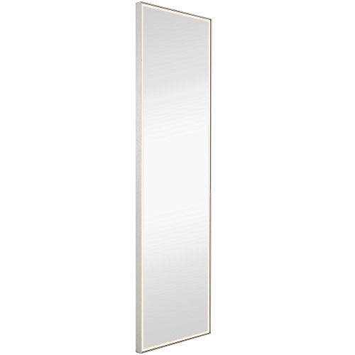Brushed Metal Mirror with Lights