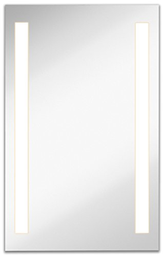 Lighted Backlit Wall Mirror 2 Frosted Lines (24
