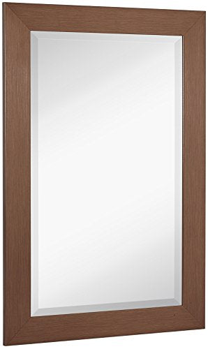 Metallic Look Rectangle Wall Mirror | Brushed Metal Appearance