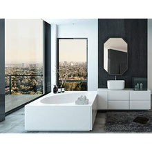 "Load image into Gallery viewer, Modern Black Frame Octagon Wall Mirror | 24"" x 36"""