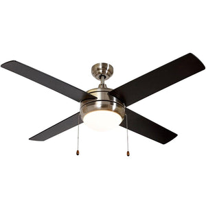 "Ceiling Fan with Light - LED Light 4 Blades 50"" Inch"